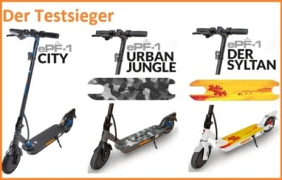 epowerfun epf-1 escooter testsieger