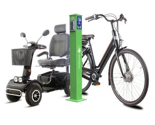 Ladesäulen für E Scooter, E Bikes und Co