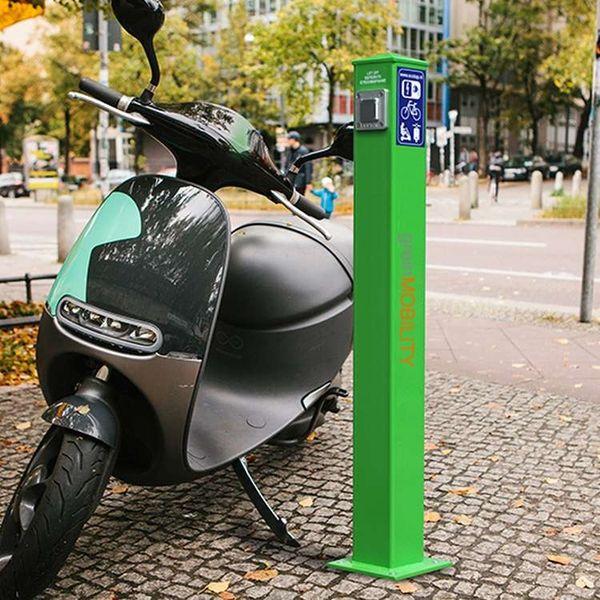 öffentliche ladestation für elektroroller von greinmobility